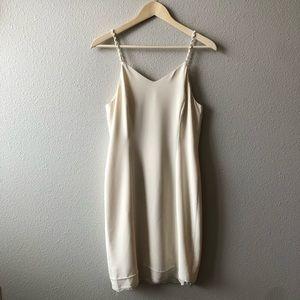 Vintage Jones New York Off White Slip Dress 6P